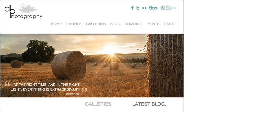 Wordpress site for Landscape Photographer Daniel Hannabus