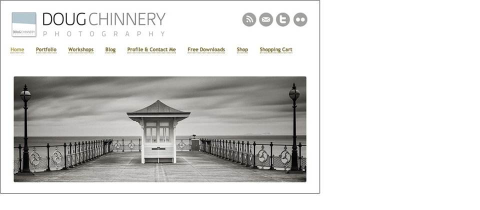 Wordpress site for Landscape Photographer Doug Chinnery